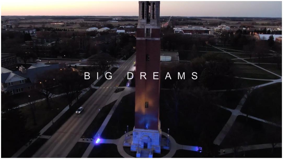 Big Dream cover - drone shot of SDSU