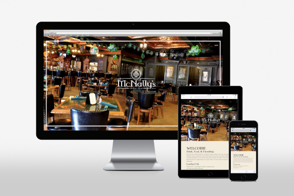 McNally's Irish Pub website on various devices