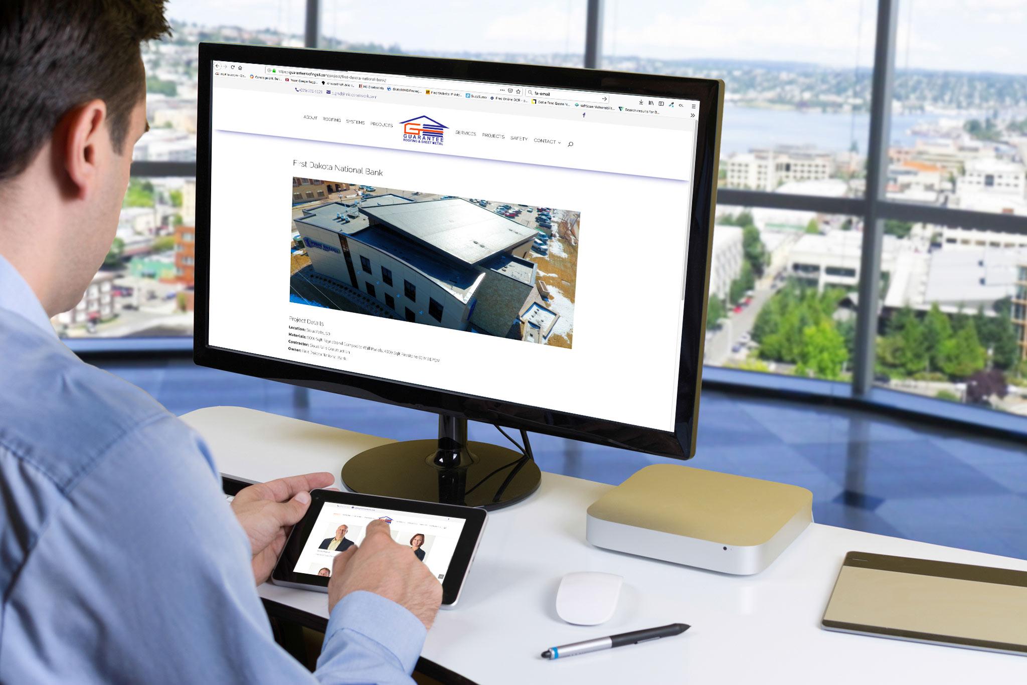 Guarantee Roofing website