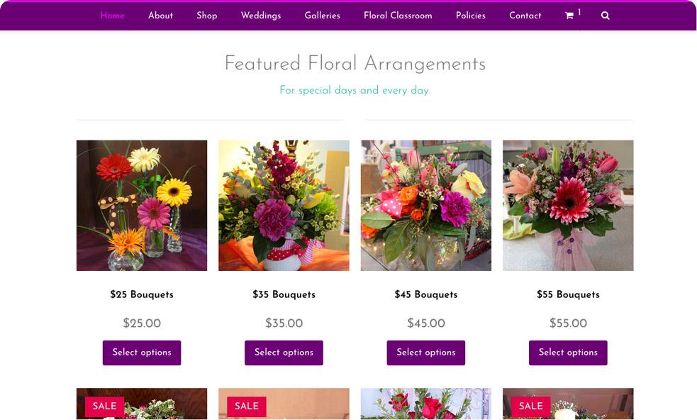 josephine's floral website