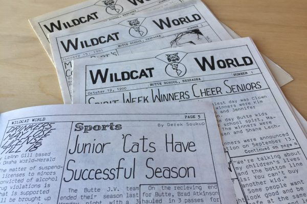 Derek Soukup's high school newspaper from 1990 in which he contributed his graphic design skills.