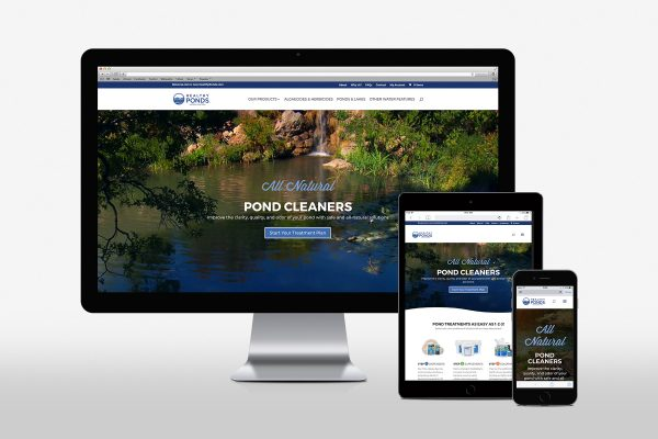 healthponds website on various devices