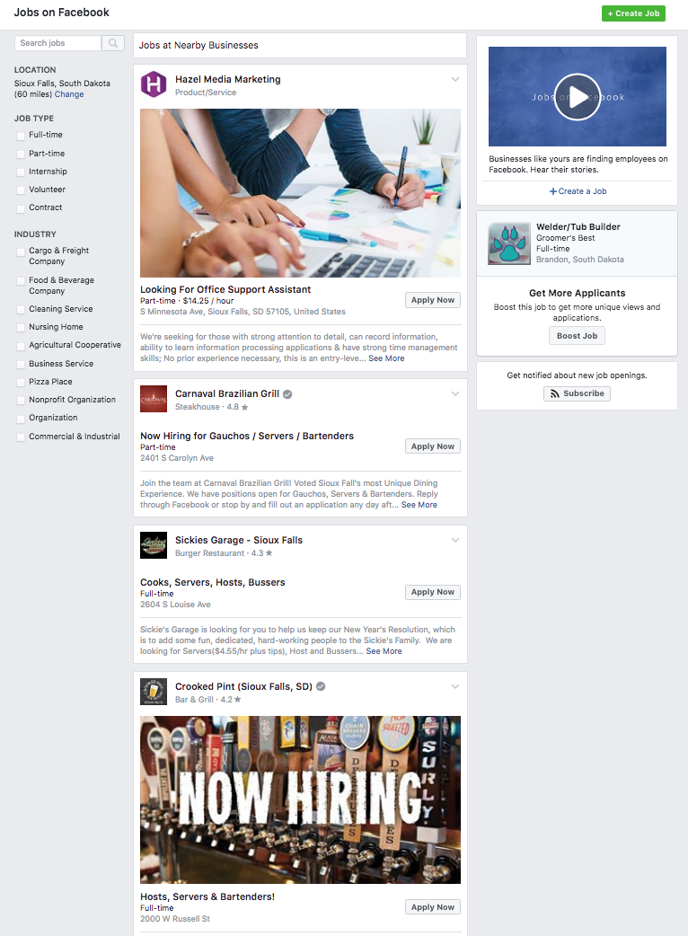 Facebook Job Boards can help further your open positions through social media
