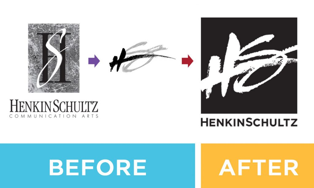 HS LOGO before after