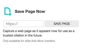 save page now button
