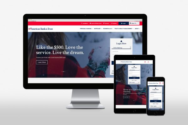 American Bank & Trust Website Mockup