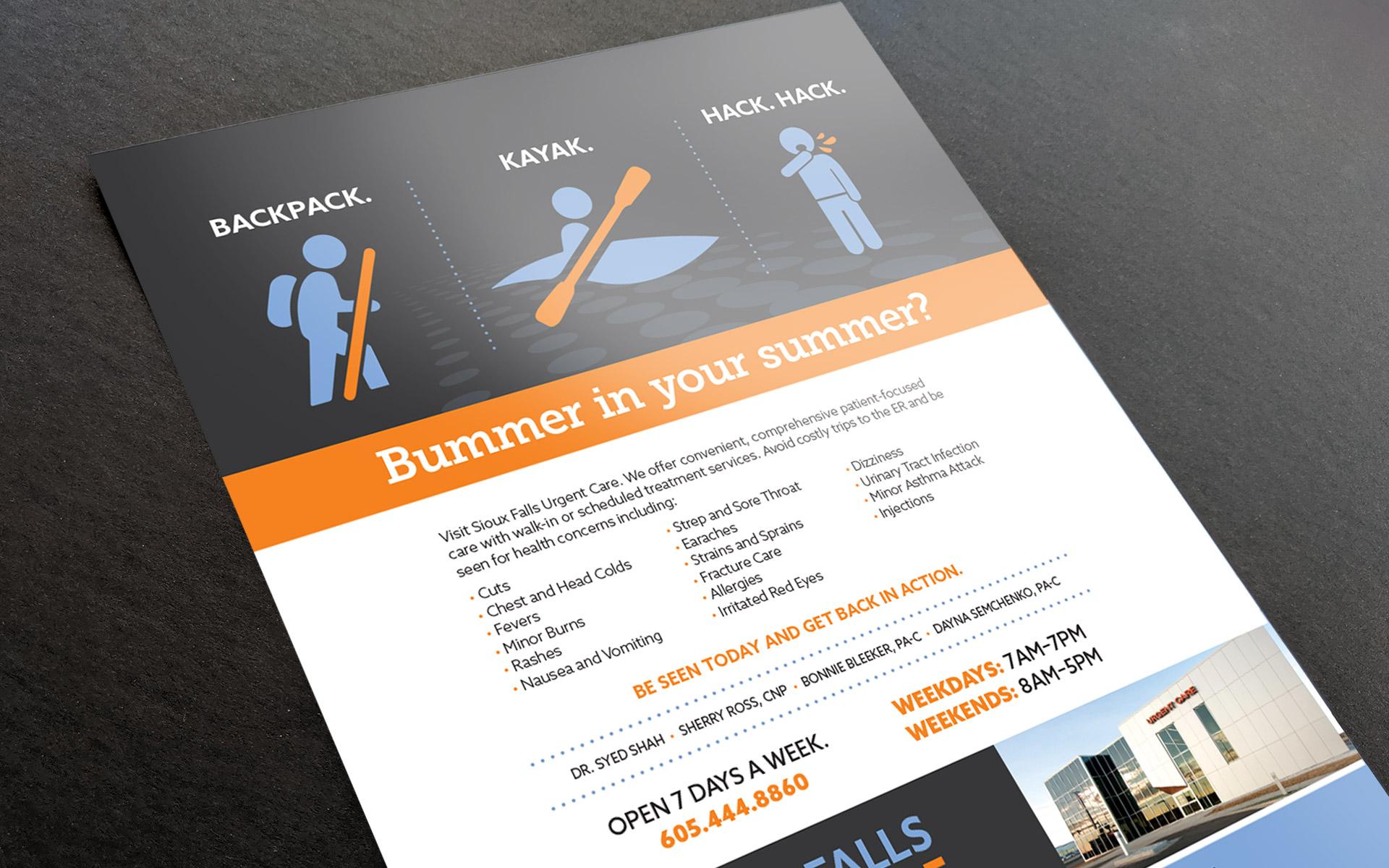 Sioux Falls Urgent Care print ad