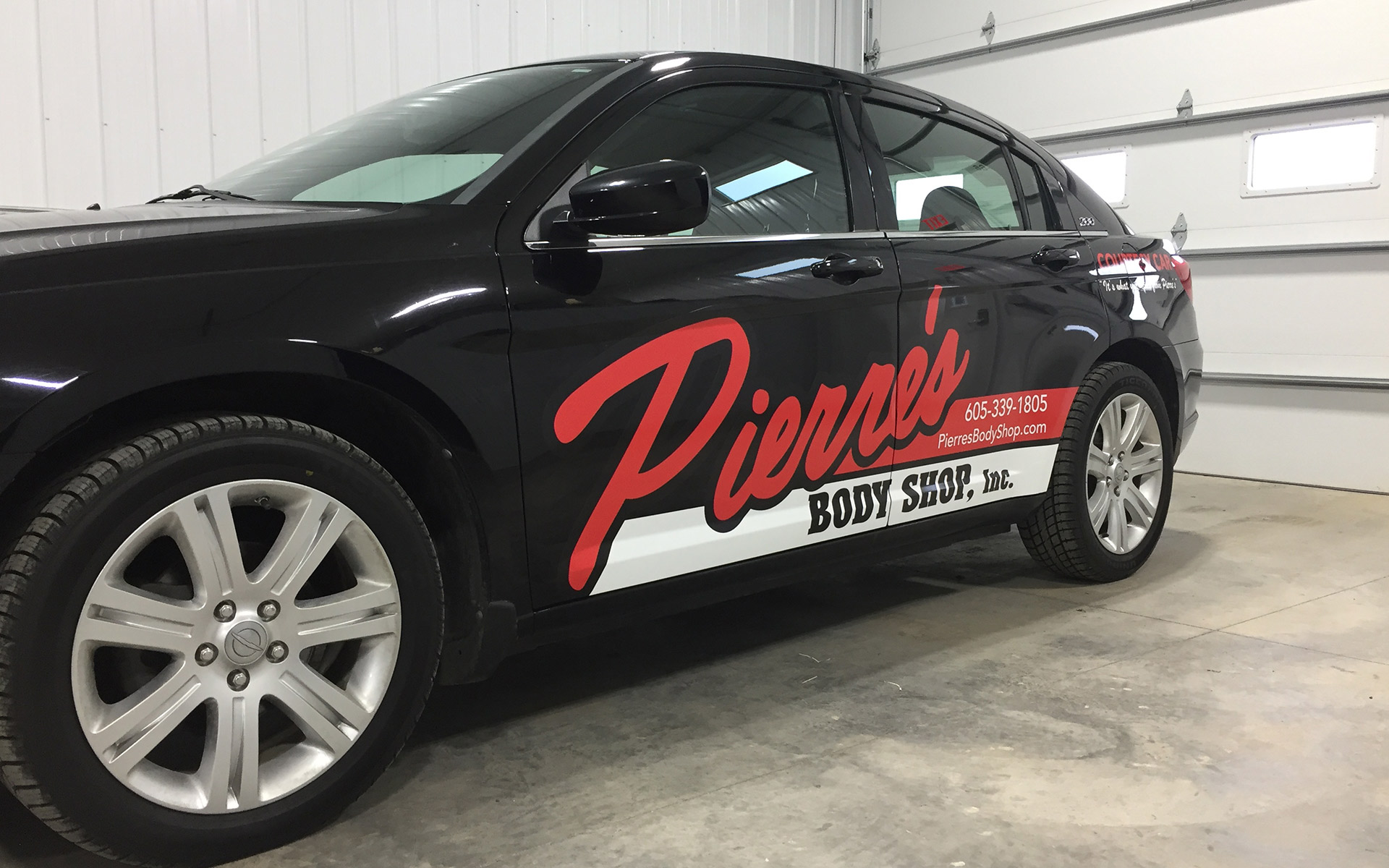 Vehicle Wrap - Pierre's Body Shop in Sioux Falls