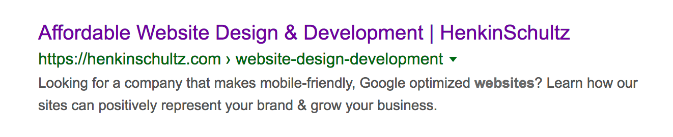 web design in seo description