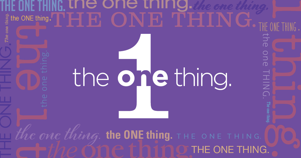 the one thing in marketing