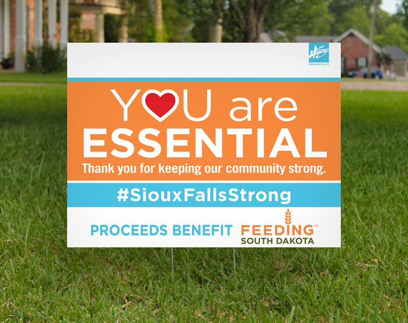 You are Essential yard sign