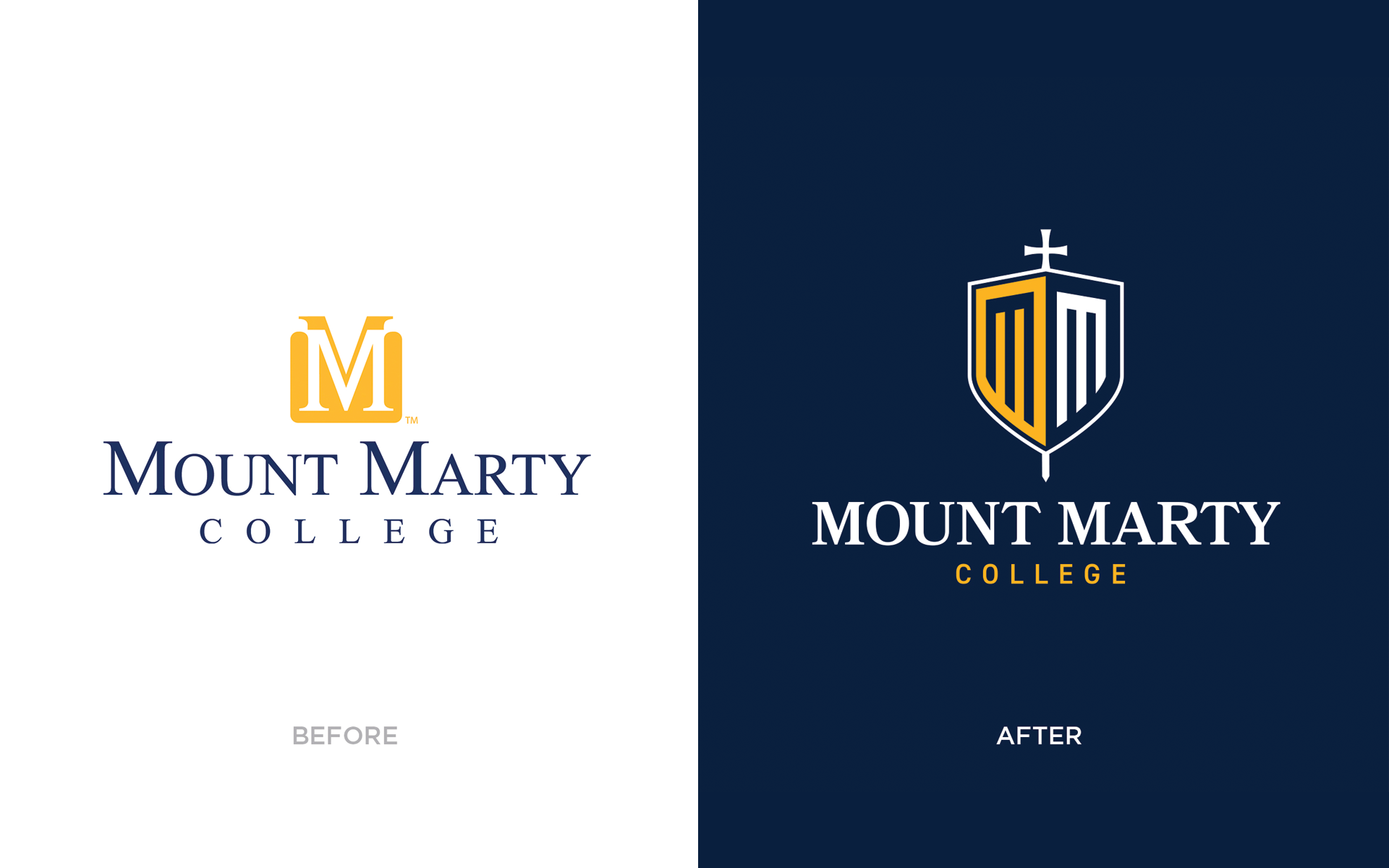 mount marty before and after