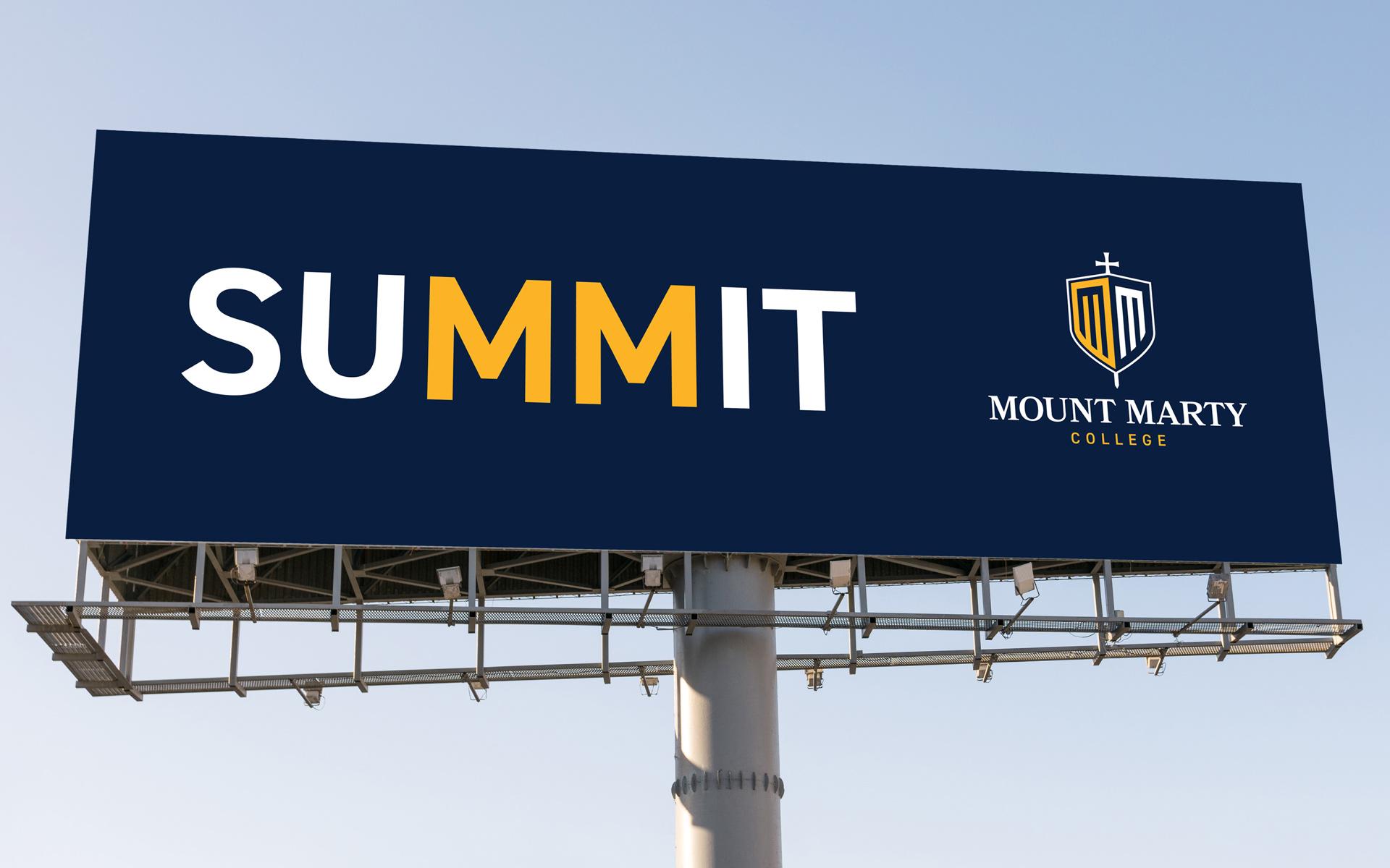 Mount Marty billboard