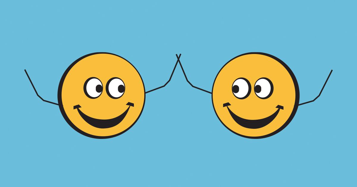 2 yellow smilies